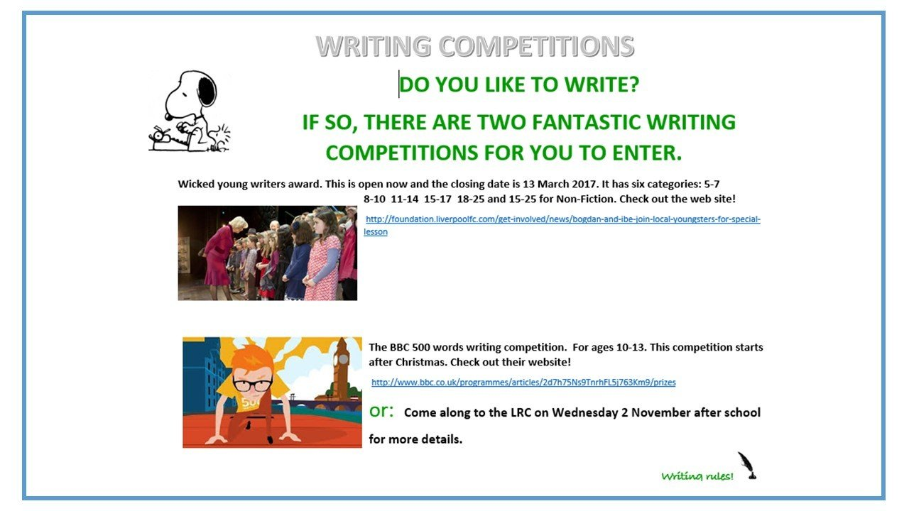 Essay competitions uk